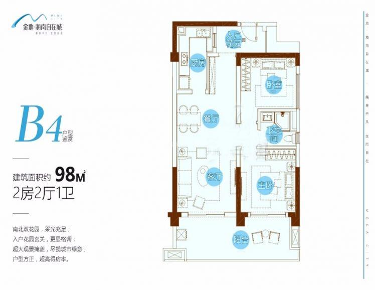 B4户型,2室2厅1卫1厨,98㎡.jpg
