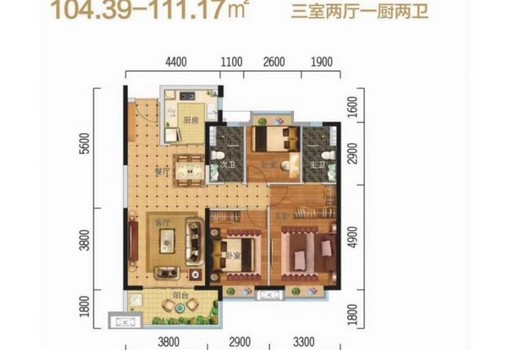 C户型,3室2厅2卫1厨,104.39㎡.jpg