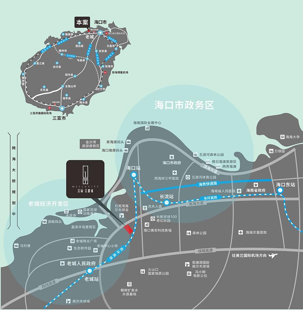 景园美麓城区位图