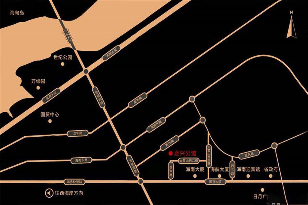 龙兴公馆区位图