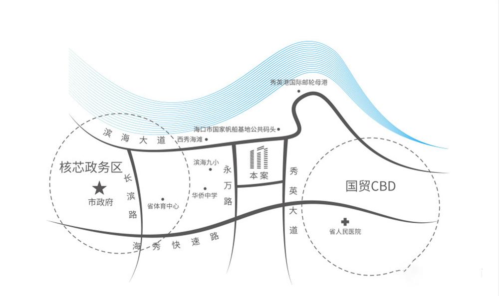 南光中心区位图