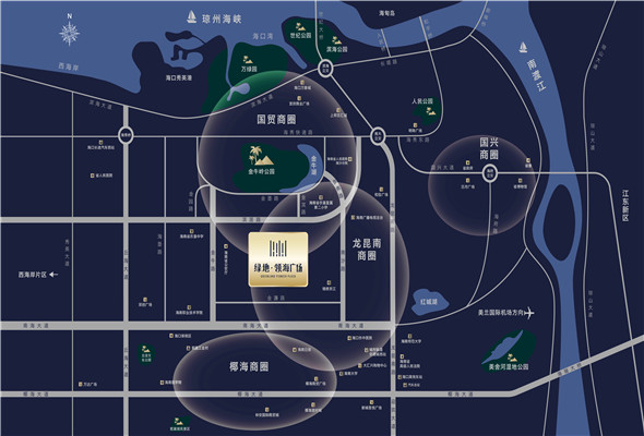 绿地领海广场区位图