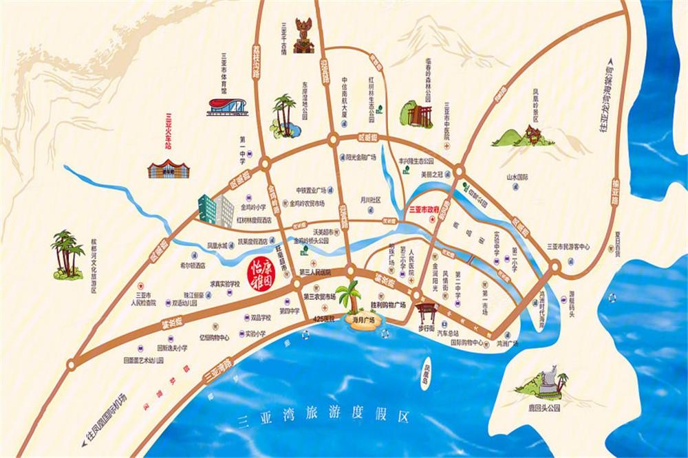怡康雅园区位图