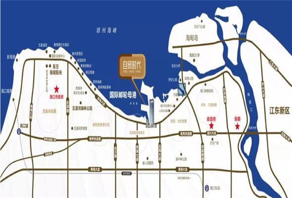自贸时代广场区位图