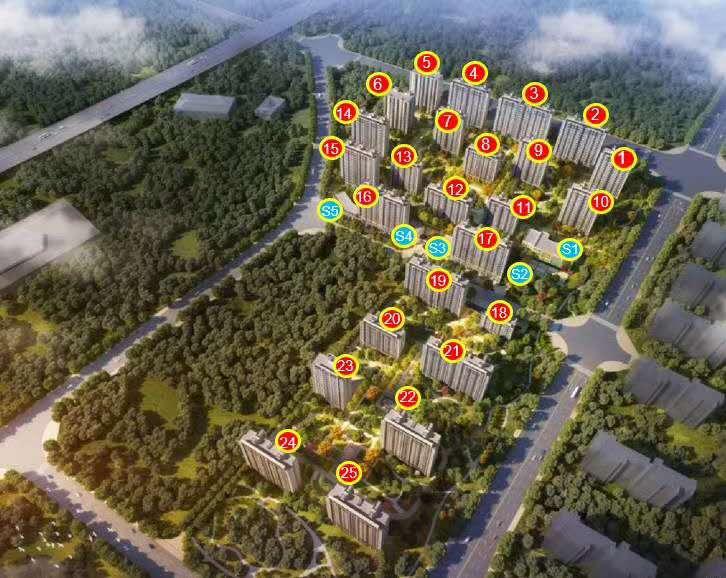 涿州华远海蓝城新房规划沙盘