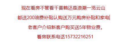 涿州浪潮一览云山楼盘和千禧鹤楼盘优惠信息
