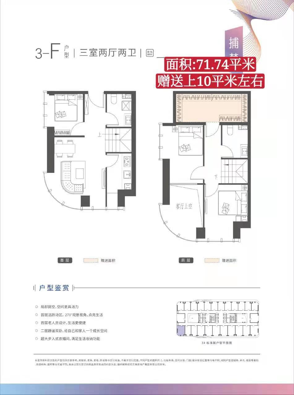 涿州天保智慧城3居室户型