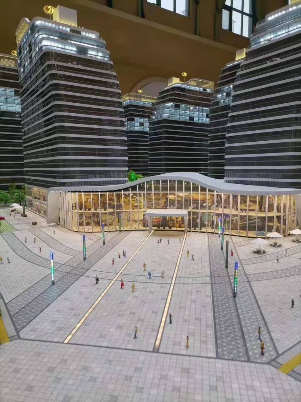 天保智慧城规划沙盘商业展示0