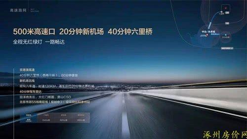 涿州中冶未来城交通优势