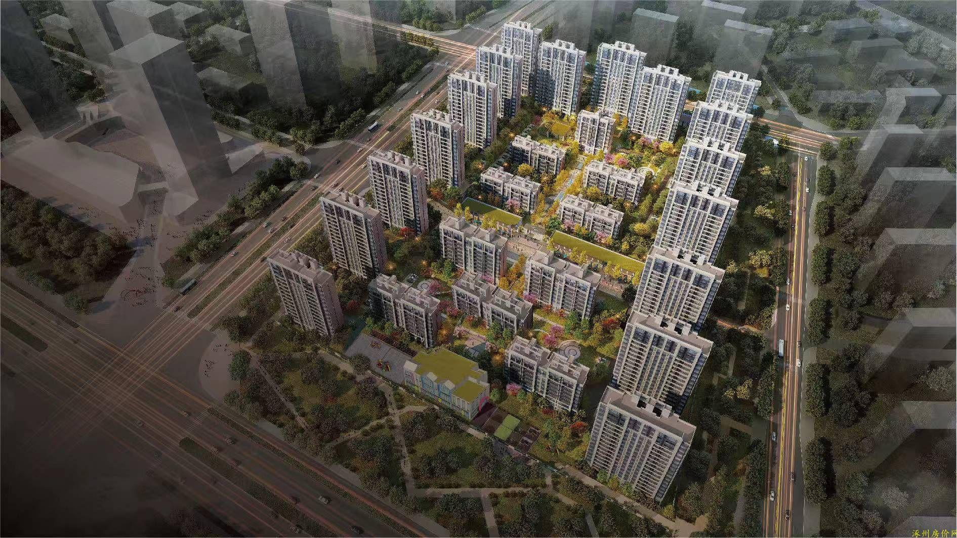 涿州中冶未来城沙盘图片